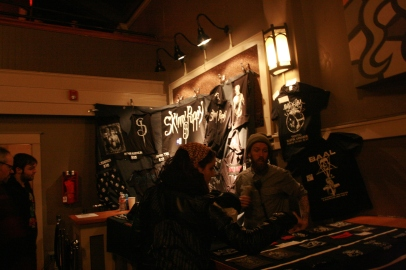 Skinny Puppy merch at the Wonder Ballroom. Photo by Yousef Hatlani.