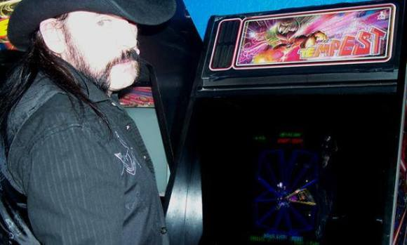 Lemmy playing Tempest at Portland, OR's Ground Kontrol Classic Arcade, October 3rd, 2009. He set two high scores that day. // Photo by Art Santana