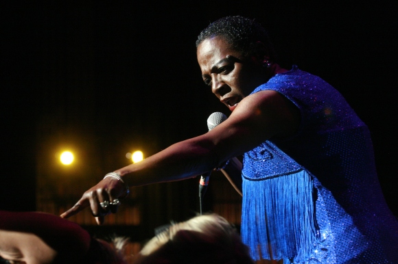 Sharon Jones at Keller Auditorium // Photo by Yousef Hatlani